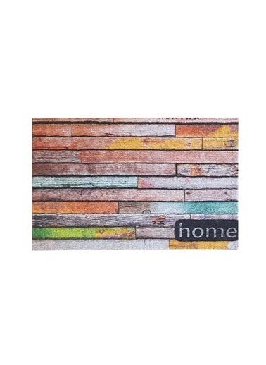 Giz Home Ola Kapı Paspası 35X55 Renkli Home Renkli
